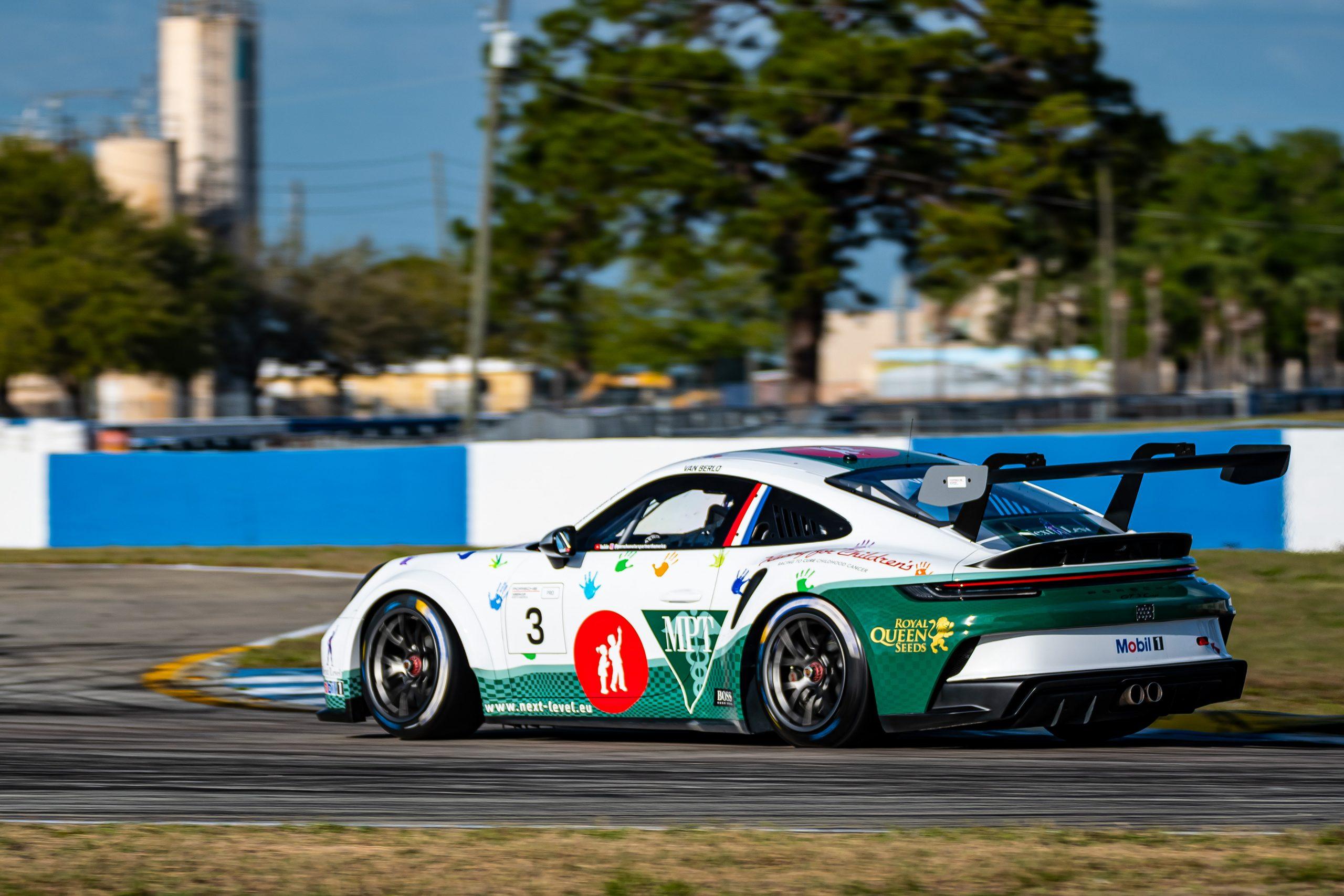 No. 3 Kelly-Moss Road & Race Porsche, 911 GT3 Cup, Kay van Berlo