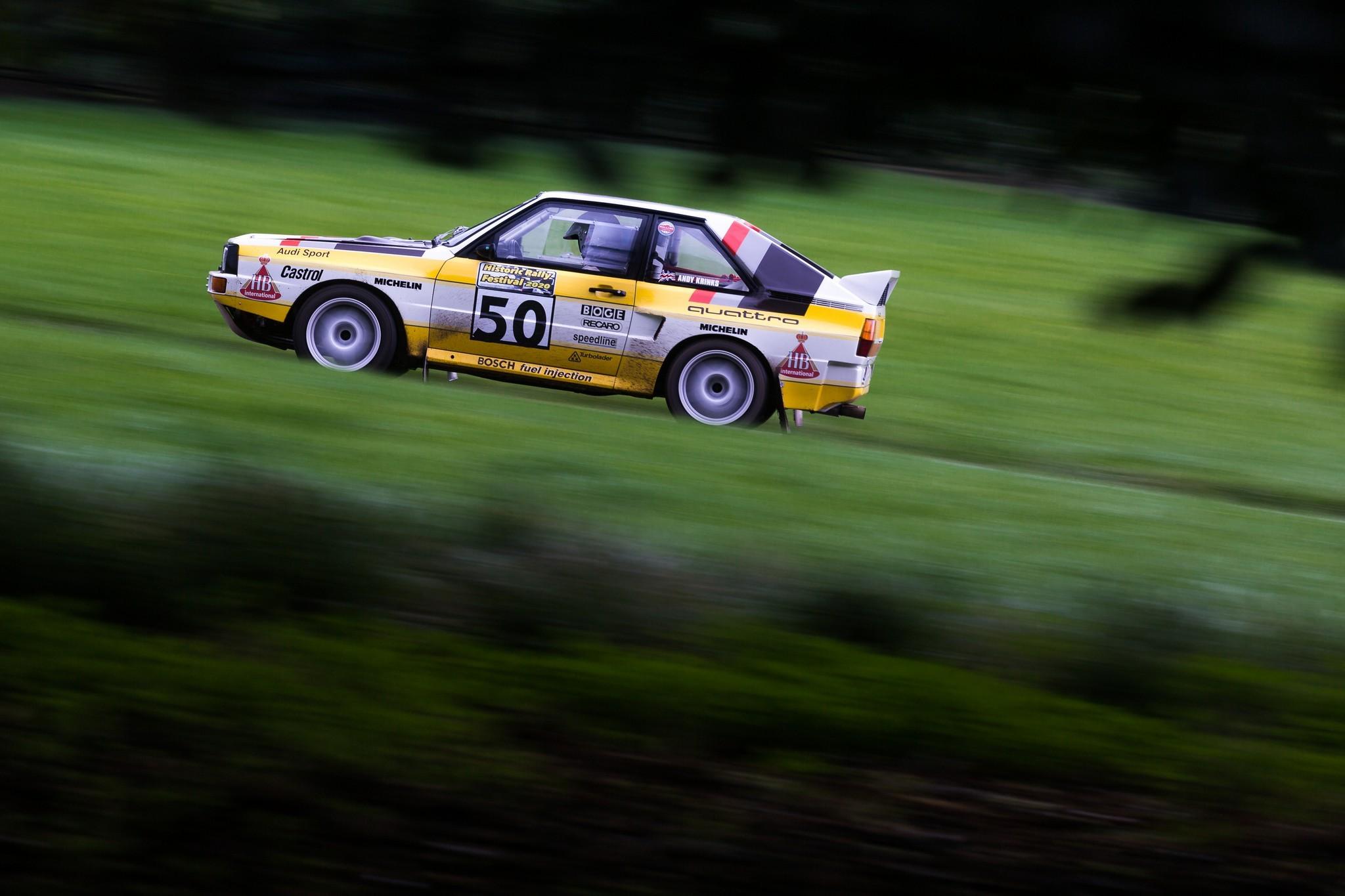 Audi Quattro A2 at speed