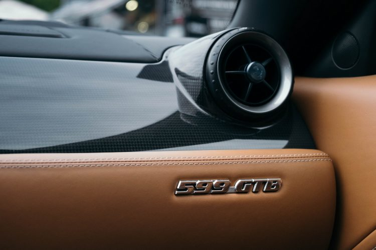 Ferrari 599 GTB Fiorano interior detail.