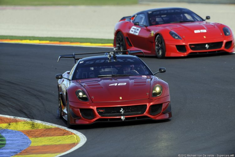 Ferrari 599XX (rear) and 599XX Evoluzione (front)