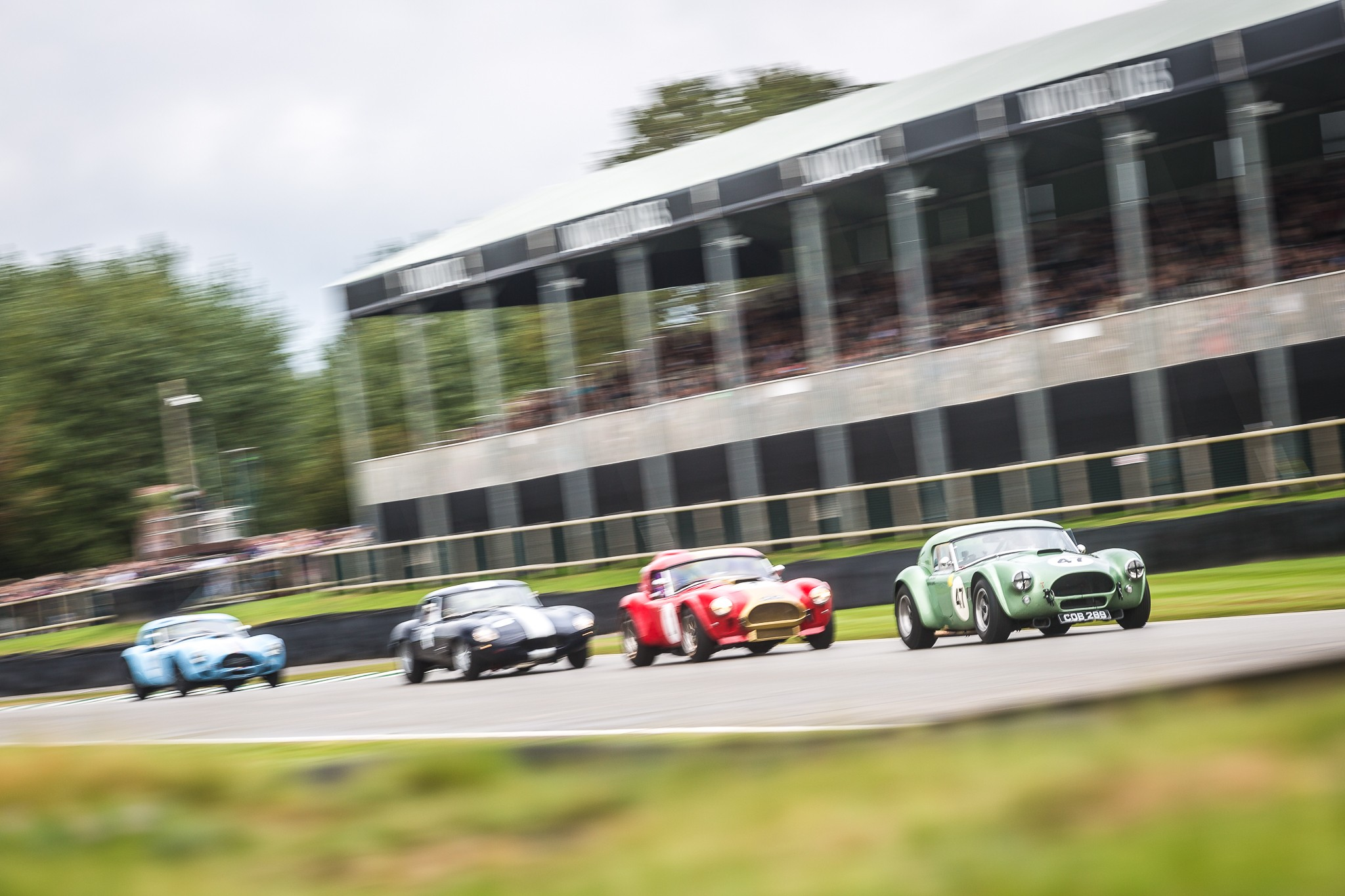 Incredibly close racing as AC Cobras lead the field in the RAC TT Celebration