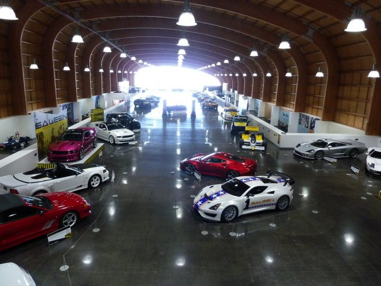 A variety of ford mustangs and saleens at the LeMay Museum